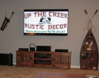 Most Up To Date Rustic Red Tv Stands For 60 Rustic Pallet Tv Stand Cabinet Sideboard Reclaimed (View 12 of 15)