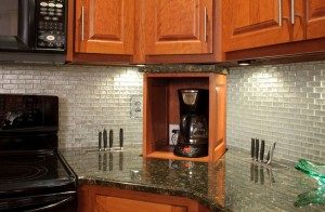 Motorized Electronics: 6 Ways To Show Off Your Home Tech For Favorite Alden Design Wooden Tv Stands With Storage Cabinet Espresso (View 9 of 15)