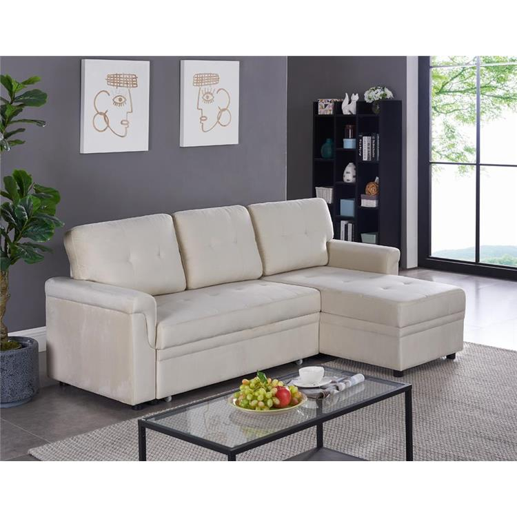 Naomi Home Laura Reversible Sleeper Sectional Sofa Storage In Copenhagen Reversible Small Space Sectional Sofas With Storage (View 11 of 15)