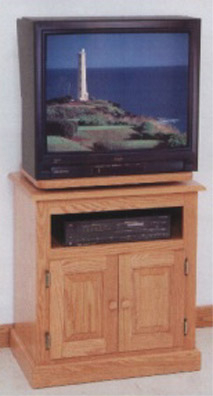 Narrow Width, Amish Solid Oak Tv Stand – Clayborne'S Of Sc Within Trendy Enclosed Tv Cabinets With Doors (View 3 of 15)