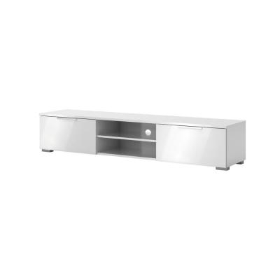 Newest 57'' Led Tv Stands With Rgb Led Light And Glass Shelves Within White – Tv Stands – Living Room Furniture – The Home Depot (View 1 of 15)
