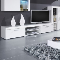 Newest Bromley Black Wide Tv Stands Pertaining To Bmf Samba 1 Tv Stand 200Cm Wide Black White High Gloss (View 15 of 15)
