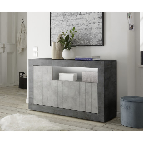 Newest Casablanca Tv Stands Intended For Fiorano 138Cm Sideboard In Oxide And Concrete Finish (View 7 of 15)