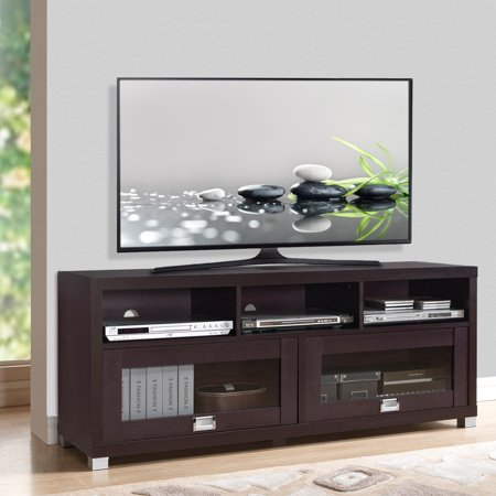 """Newest Techni Mobili 58"""" Durbin Tv Stands In Espresso Or Grey Wood Within Techni Mobili 58"""" Durbin Tv Stand For Tvs Up To  (View 1 of 15)"""