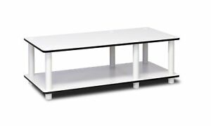 Newest Tv Stands For Tube Tvs Pertaining To Furinno 11174Wh(Ex)/Wh Just No Tools Mid Tv Stand White W (View 14 of 15)