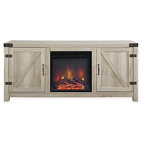 Newest Walker Edison Wood Tv Media Storage Stands In Black In Forest Gate™ Wheatland 58 Inch Electric Fireplace Tv Stand (View 8 of 15)