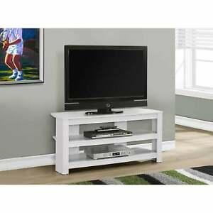 "Newest White Corner Tv Cabinets In Tv Stand – 42""L / White Corner White Modern & Contemporary (View 9 of 15)"