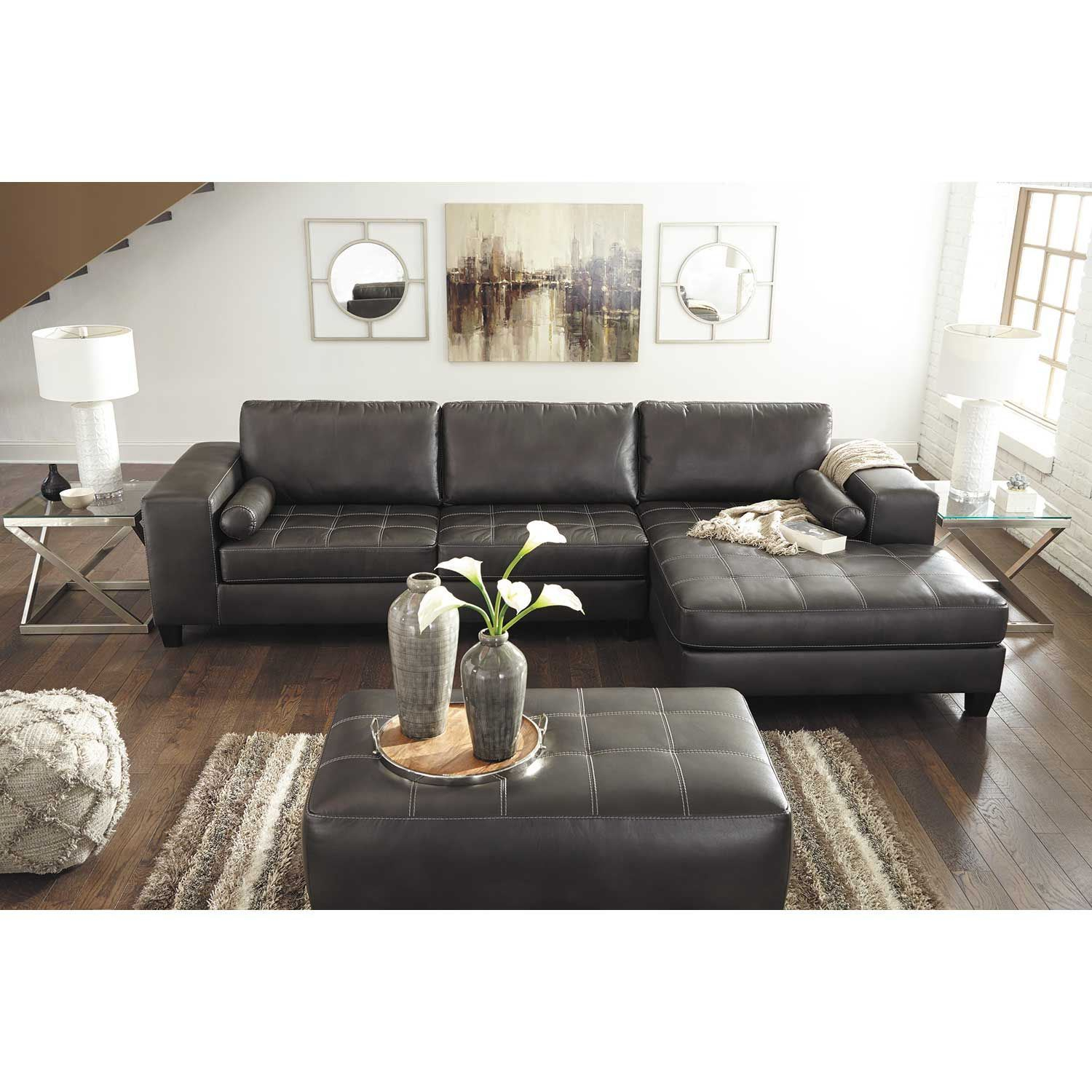 Nokomis 2 Piece Sectional With Raf Chaise 8770117/8770166 Intended For Evan 2 Piece Sectionals With Raf Chaise (View 6 of 15)