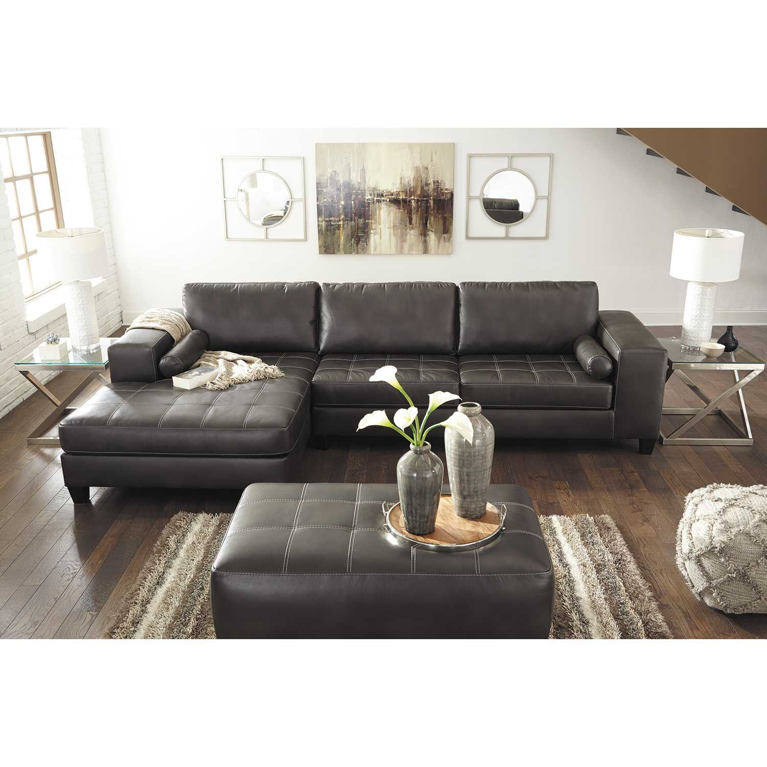 Nokomis 2 Piece Sectional With Raf Chaise 8770117/8770166 With Avery 2 Piece Sectionals With Raf Armless Chaise (View 15 of 15)