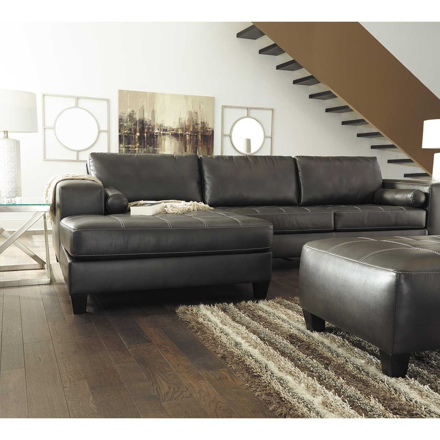 Nokomis 2 Piece Sectional With Raf Chaise – Indy Best Regarding Evan 2 Piece Sectionals With Raf Chaise (View 11 of 15)
