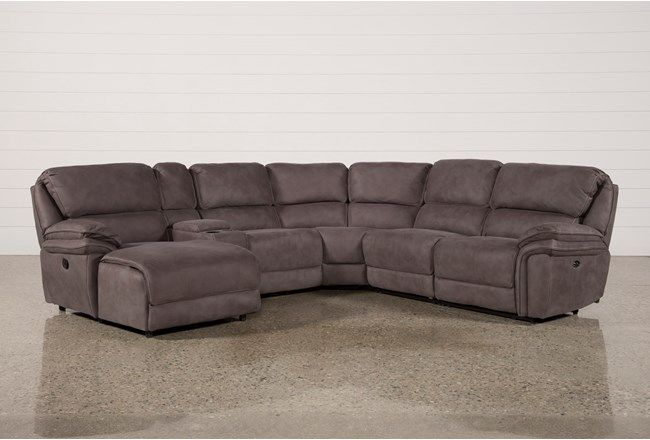 Norfolk Grey 6 Piece Sectional W/Laf Chaise – 360 | Grey Inside Norfolk Grey 3 Piece Sectionals With Laf Chaise (View 3 of 15)