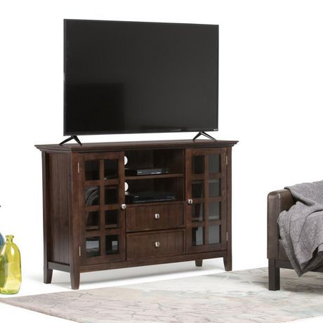 """Normandy Solid Wood 53 Inch Wide Rustic Tv Media Stand In Within Recent Twila Tv Stands For Tvs Up To 55"""" (View 4 of 15)"""