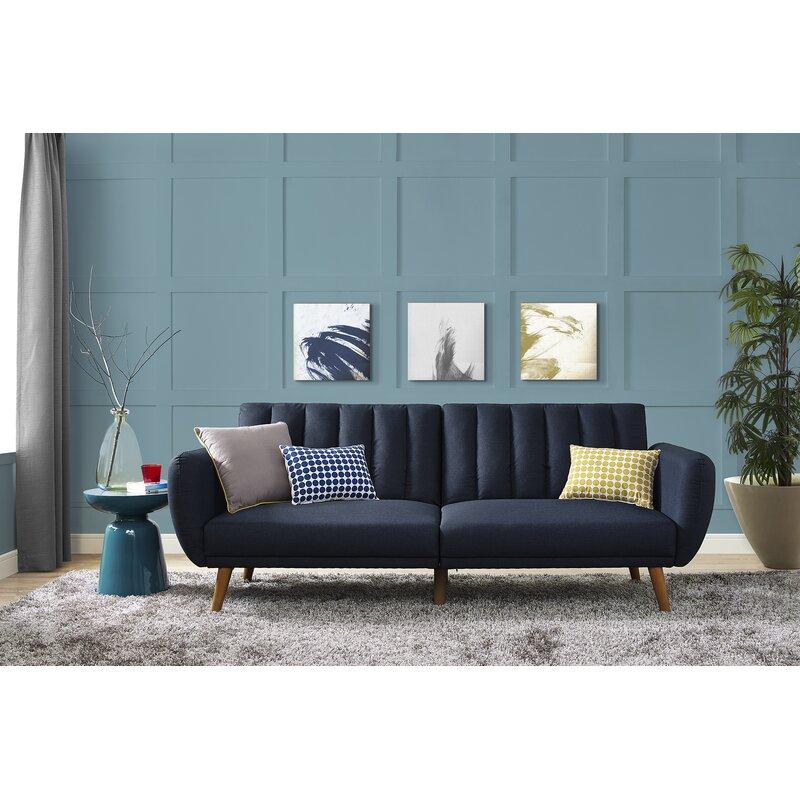 Novogratz Brittany Convertible Sofa & Reviews   Wayfair Pertaining To Brittany Sectional Futon Sofas (View 13 of 15)