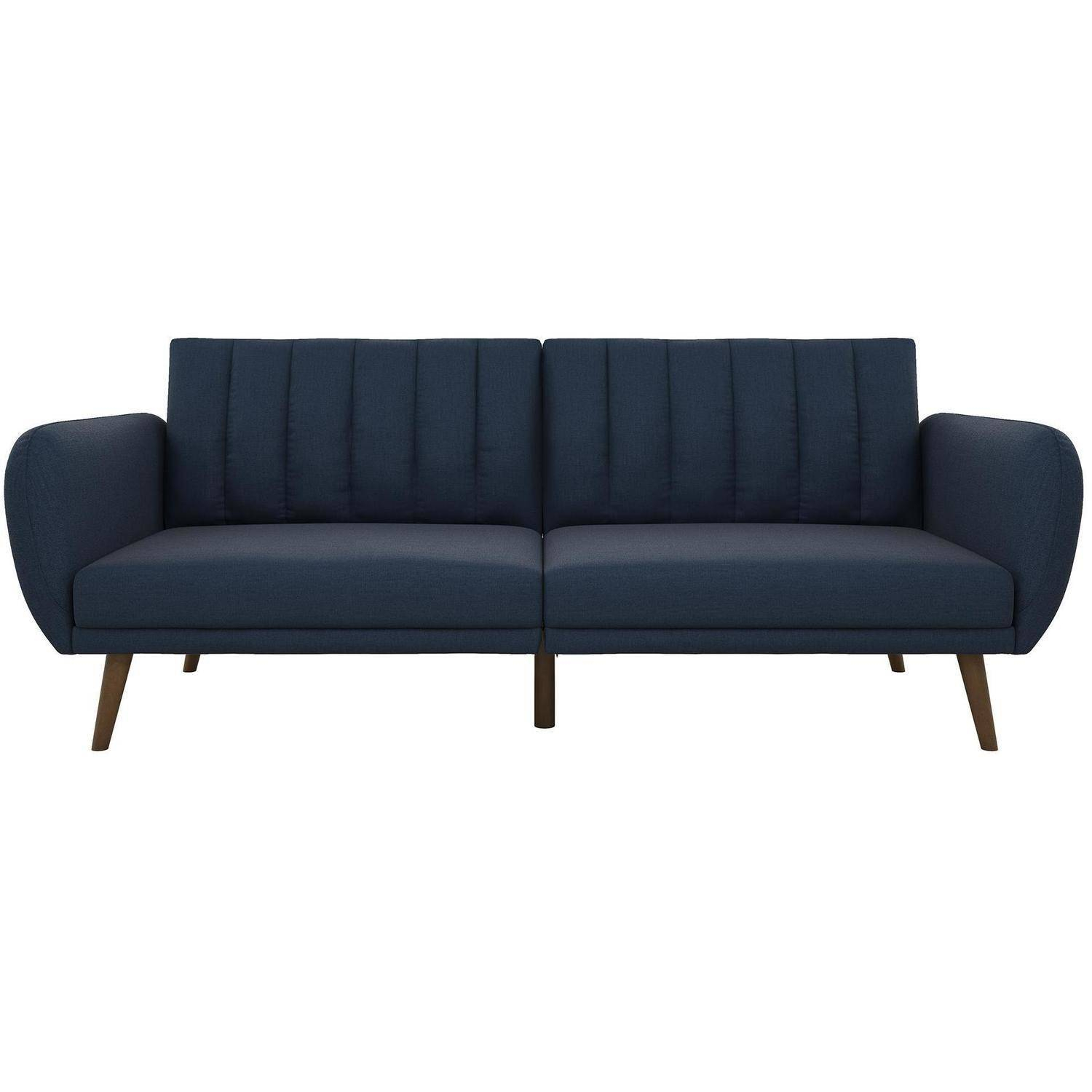 Novogratz Brittany Linen Futon Couch, Multiple Colors Throughout Brittany Sectional Futon Sofas (View 5 of 15)