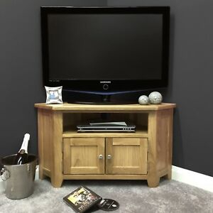 Oak Corner Tv Stand With Doors / Solid Wood Television For Newest Corner Tv Cabinets With Glass Doors (View 6 of 15)
