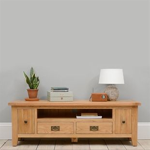Oak, Solid Wood And White Tv Stands (View 8 of 15)