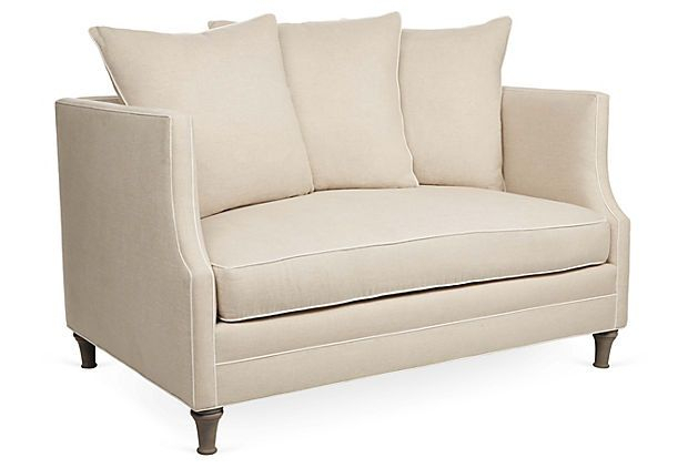 """One Kings Lane – The Relaxed Resort – Thompson 56"""" Sofa Intended For Harmon Roll Arm Sectional Sofas (View 12 of 15)"""
