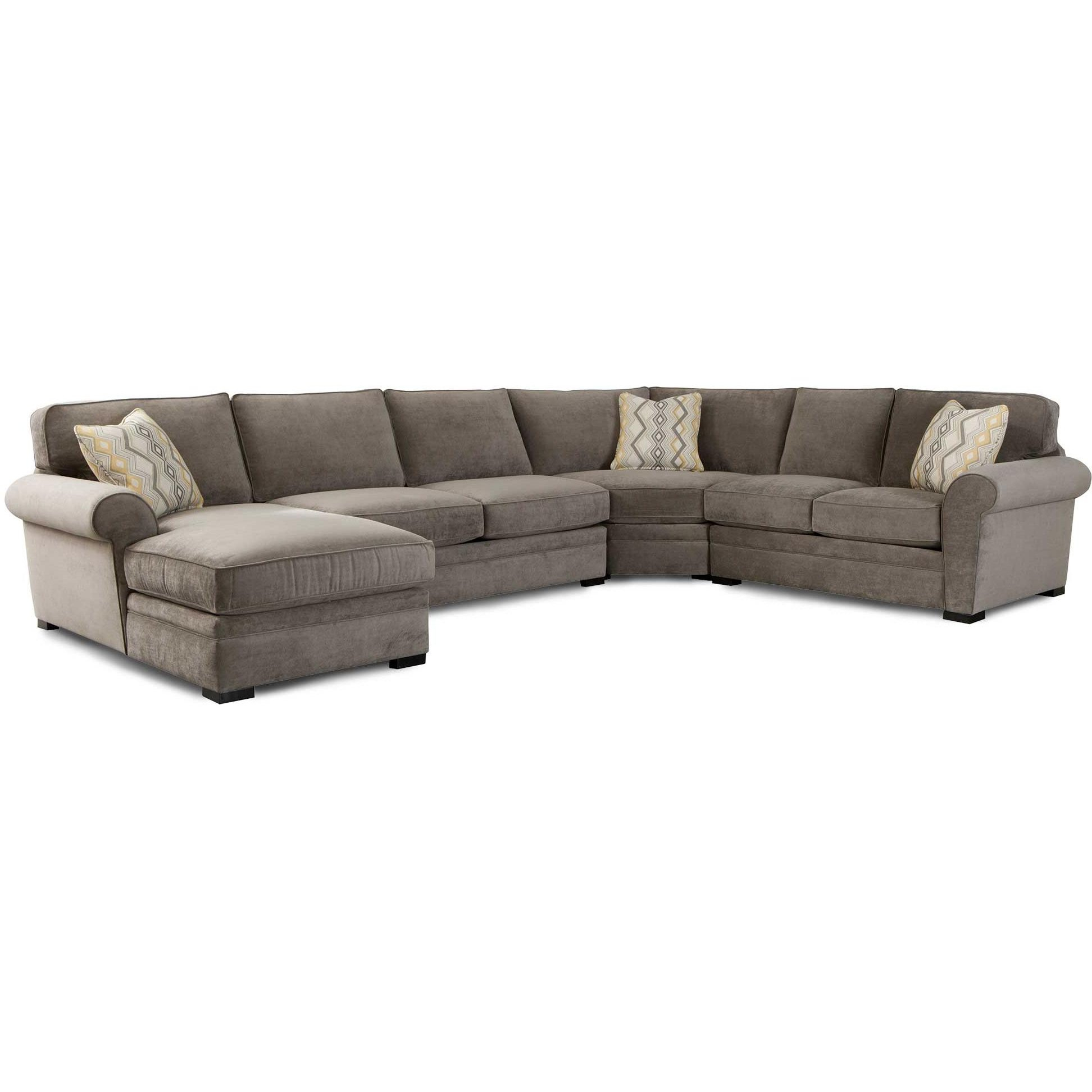 Orion Gray Upholstered 4 Piece Sectional With Regard To Benton 4 Piece Sectionals (View 2 of 15)