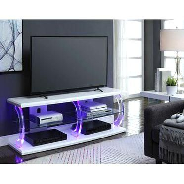 Orren Ellis Bolick Led Tv Stand Color Black In 2020 For Favorite Led Tv Cabinets (View 5 of 15)