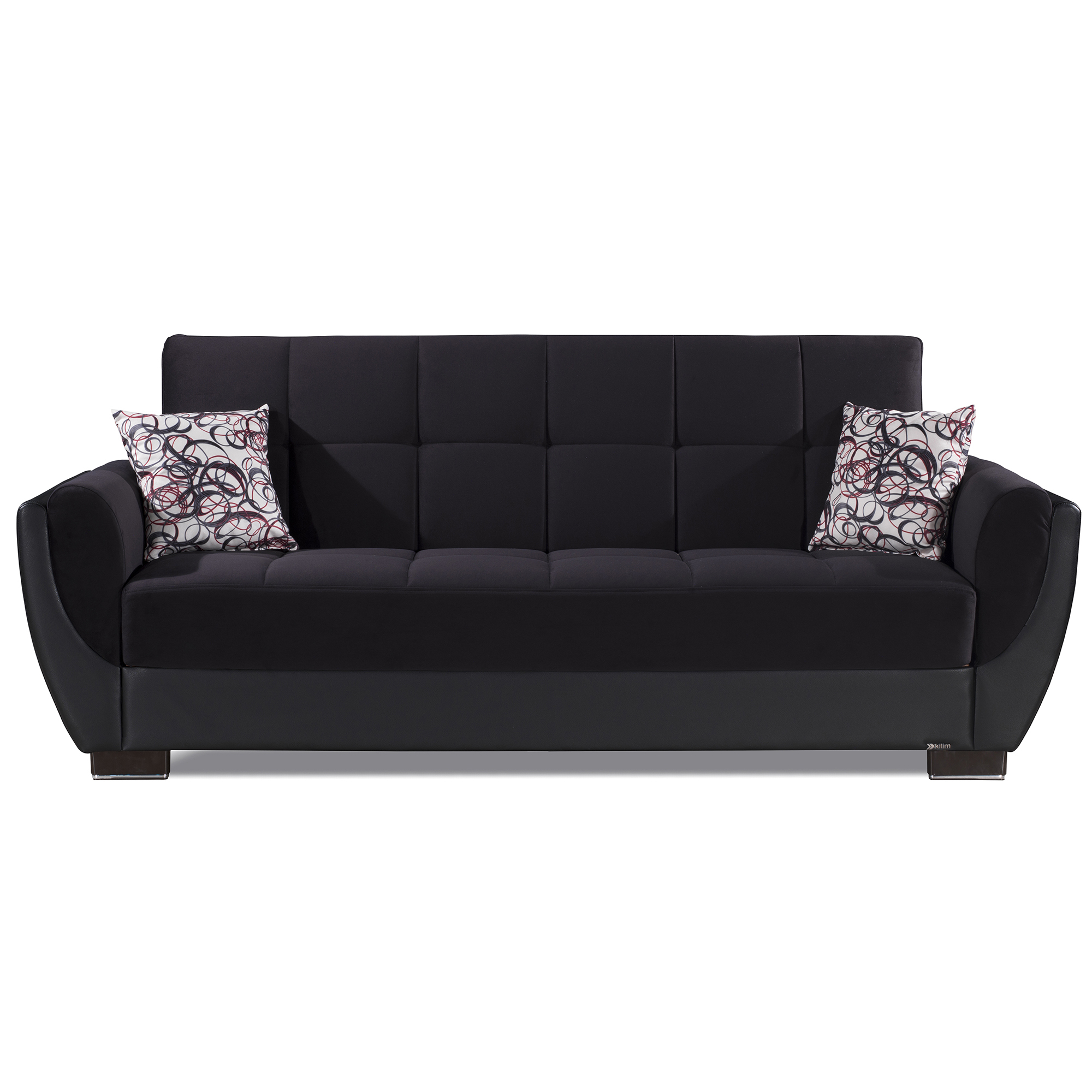 Ottomanson Armada Air Fabric Upholstery Sleeper Sofa Bed Regarding Hartford Storage Sectional Futon Sofas (View 8 of 15)