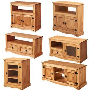 Panana Tv Cabinet Media Dvd Hi Fi Unit Solid Pine Wood Throughout Preferred Corona Grey Corner Tv Stands (View 5 of 15)