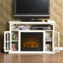 Peyton White Media Console Electric Fireplace – Free Within Fashionable White Painted Tv Cabinets (View 8 of 15)