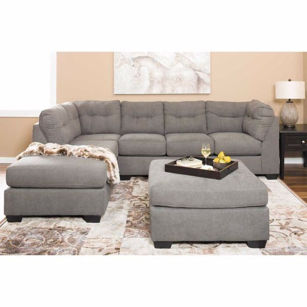 Picture Of Maier Charcoal 2 Piece Sectional With Laf Pertaining To Avery 2 Piece Sectionals With Laf Armless Chaise (View 14 of 15)