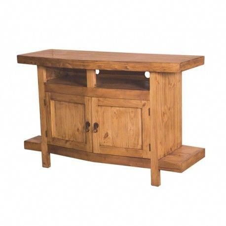 Pine Desk In Latest Rustic Wood Tv Cabinets (View 7 of 15)