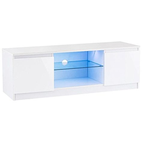 """Popular 47"""" Tv Stands High Gloss Tv Cabinet With 2 Drawers For 47 White High Gloss Tv Stand Unit Entertainment Media (View 14 of 15)"""