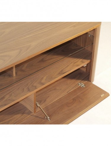 Popular 65 Inch Tv Stands With Integrated Mount With Alphason Hugo Tv Stand Adh1260 Wal Walnut With Bracket (View 12 of 15)