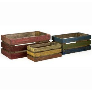 Popular Corona Small Tv Stands With Regard To Set Of 3 Country Rustic Rectangular Wooden Storage Box (View 15 of 15)