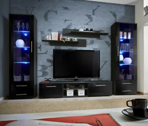 Popular Dillon Black Tv Unit Stands For Telia 6 – Black Living Room Furniture / Entertainment (View 15 of 15)