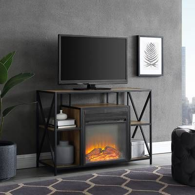 """Popular Neilsen Tv Stands For Tvs Up To 50"""" With Fireplace Included Within Sunbury Tv Stand For Tvs Up To 60"""" With Electric Fireplace (View 7 of 15)"""