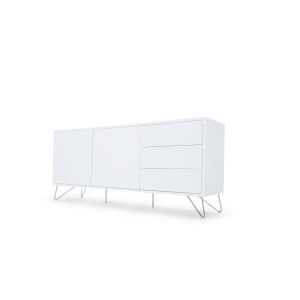 Popular Orsen Tv Stands Throughout Elona Sideboard, White Gloss (View 4 of 15)