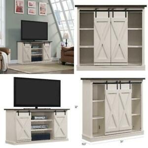 """Popular Rustic White Tv Stands In Rustic Tv Stand Console Up To 60"""" Wood Entertainment (View 8 of 15)"""