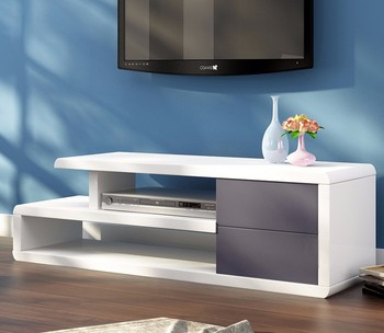 Popular White High Gloss Tv Stands Throughout Modern White High Gloss Mdf Wooden Tv Stand With Drawer (View 4 of 15)