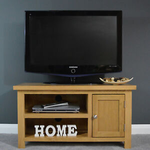 Preferred Bromley Extra Wide Oak Tv Stands Throughout Oak Small Tv Unit Plasma/ Media Cabinet / Solid Wood / Tv (View 15 of 15)