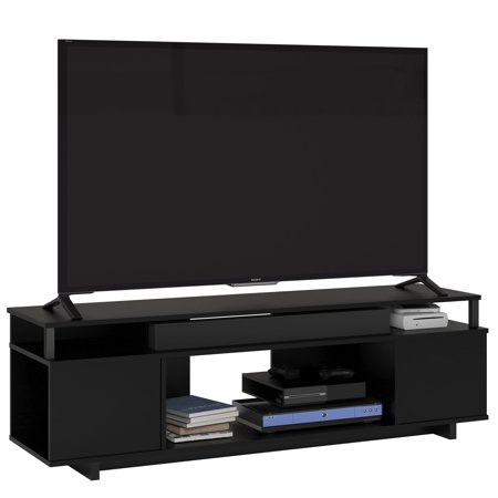 """Preferred Cheap Cantilever Tv Stands Pertaining To Ameriwood Home Carson Tv Stand For Tvs Up To 65"""", Black (View 10 of 15)"""