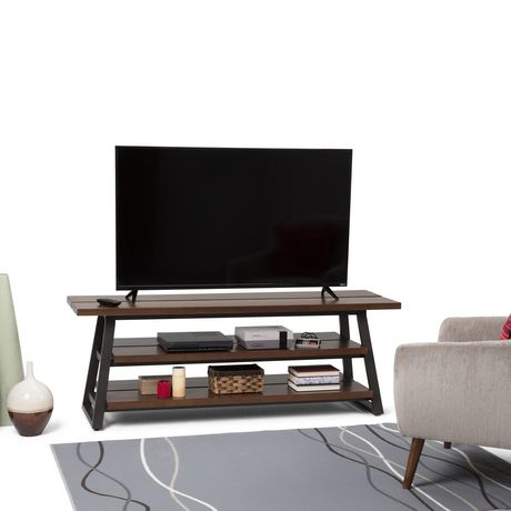 Preferred Harbor Wide Tv Stands Intended For Wyndenhall Tyson Solid Wood Low Tv Media Stand In Light (View 3 of 15)