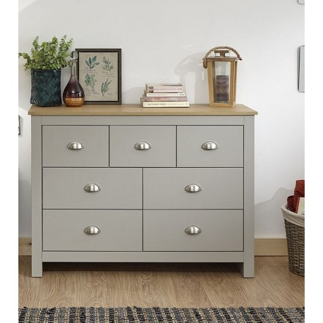 Preferred Lancaster Small Tv Stands Pertaining To Lancaster Merchants Chest Grey – Brixton Beds (View 4 of 15)