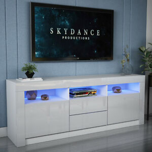 Preferred Modern White Gloss Tv Stands For Modern 160Cm Tv Unit Cabinet Stand High Gloss Drawers (View 7 of 15)