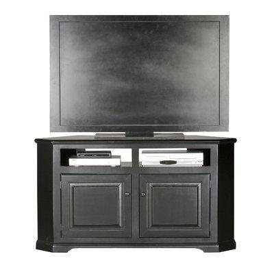 Preferred Techlink Bench Corner Tv Stands Regarding Red Barrel Studio® Wentzel Solid Wood Corner Tv Stand For (View 3 of 15)