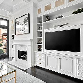 Preferred White Painted Tv Cabinets With Regard To Built In Living Room Display Cabinets Design Ideas (View 9 of 15)