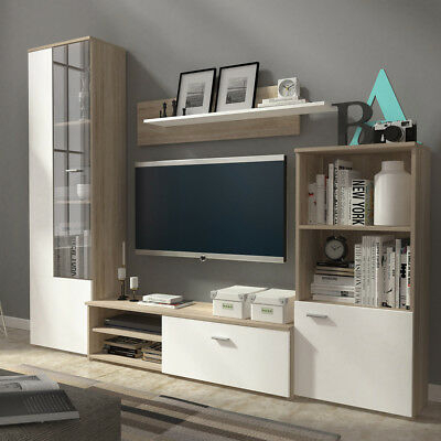 Recent 57'' Tv Stands With Led Lights Modern Entertainment Center Inside Living Room Furniture Set Tv Unit Cabinet Glass Display (View 8 of 15)