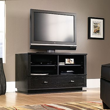 Recent Alden Design Wooden Tv Stands With Storage Cabinet Espresso Pertaining To Two Adjustable Shelves Hold Audio/Video Equipment (View 1 of 15)