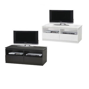 Recent Black Tv Cabinets With Drawers In Orb Tv Cabinet With 2 Drawers And Shelves – 100Cm Wide (View 15 of 15)