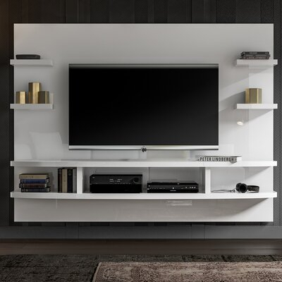 """Recent Griffing Solid Wood Tv Stands For Tvs Up To 85"""" For Floating Tv Stands & Entertainment Centers You'Ll Love In (View 15 of 15)"""