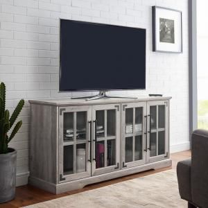 Recent Martin Svensson Home Elegant Tv Stands In Multiple Finishes For Martin Svensson Home Orsey Antique White Glass Tv Console (View 13 of 15)