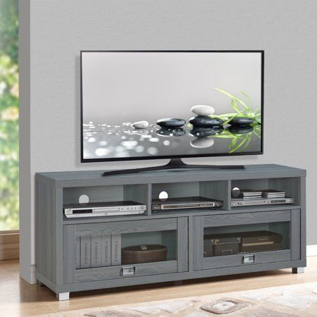 """Recent Techni Mobili 58"""" Durbin Tv Stands In Espresso Or Grey Wood Within Techni Mobili 58"""" Durbin Tv Stand For Tvs Up To 75"""", Grey (View 2 of 15)"""