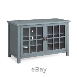 Recent Tv Cabinets With Glass Doors With Rustic Tv Console Cabinet Sideboard Buffet Style 55 Inch (View 14 of 15)
